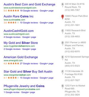 Austin Coin Shops