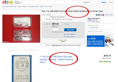 Ebay Fake Silver