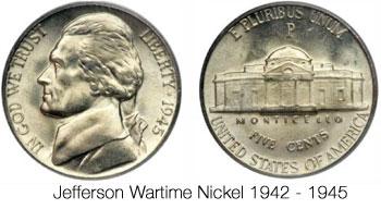 Jefferson Wartime Nickel