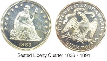 Seated Liberty Quarter