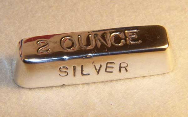 2 ounce silver ingot
