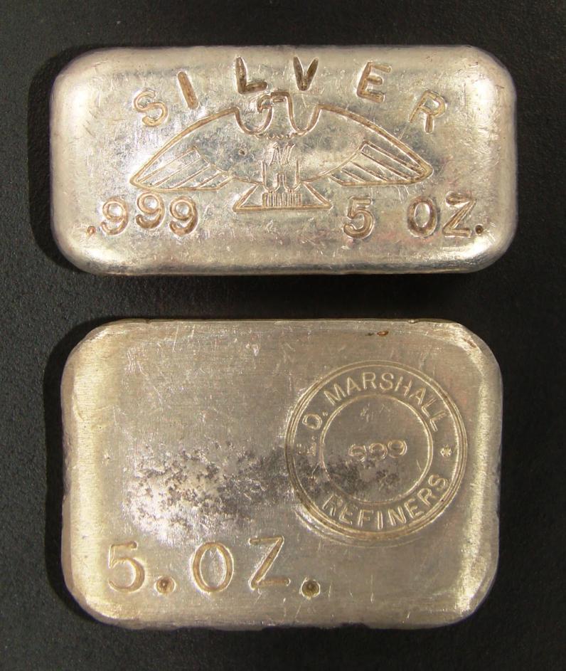 5 ounce silver ingot