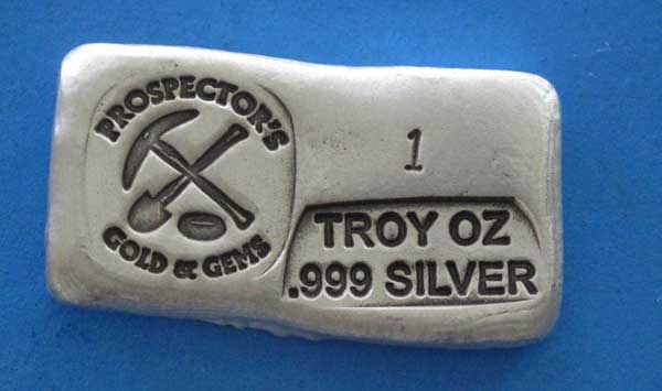 Prospector Hand Poured Silver