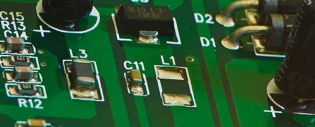 Silver Electronics Circuit Board