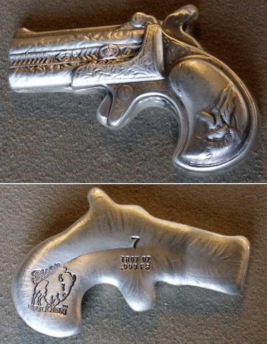 Silver Pistol Gun