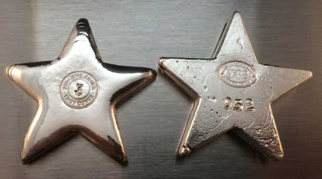 Star Poured Silver