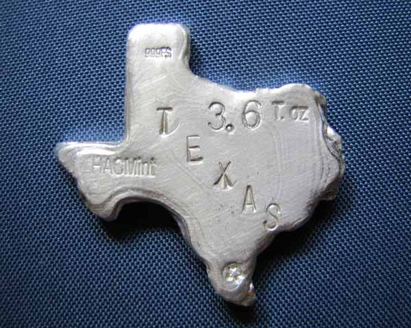 Texas Silver Poured Bar