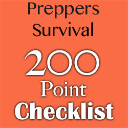 86707ccc27b05 Preppers List of Survival Items (200 Point Checklist)